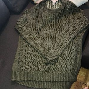Long green BCBG sweater